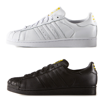 adidas originals pharrell williams superstar supershell sculpted pack white black p