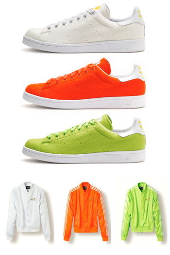 new style 3c48c 9d2eb adidas pharrell stan smith 2 tennis ball orange white green track jackets  satin p2