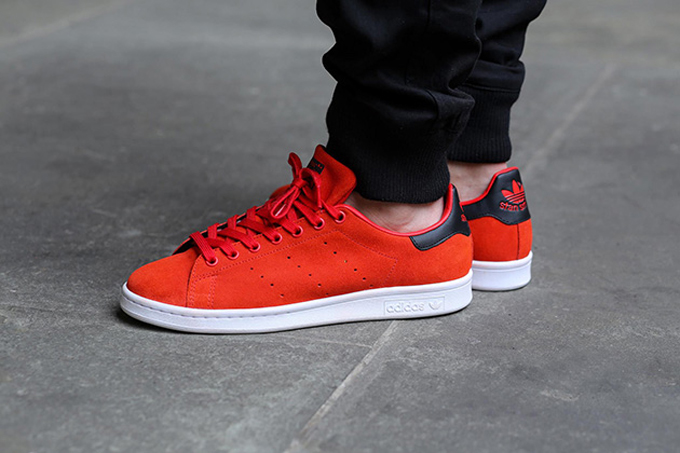 Stan Smith Adidas Mens Red