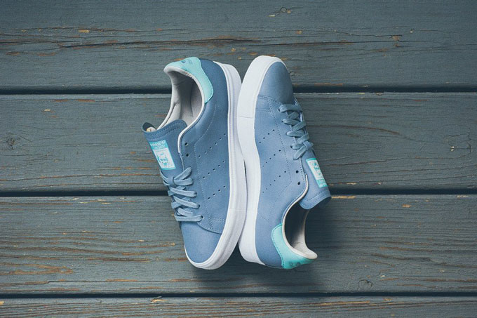 best website 42f93 38434 ADIDAS ORIGINALS STAN SMITH VULC DUST BLUE & TIFFANY - The ...