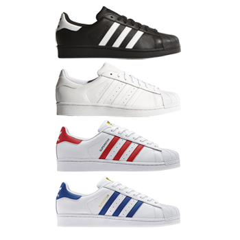 adidas superstar foundation pack black white red blue