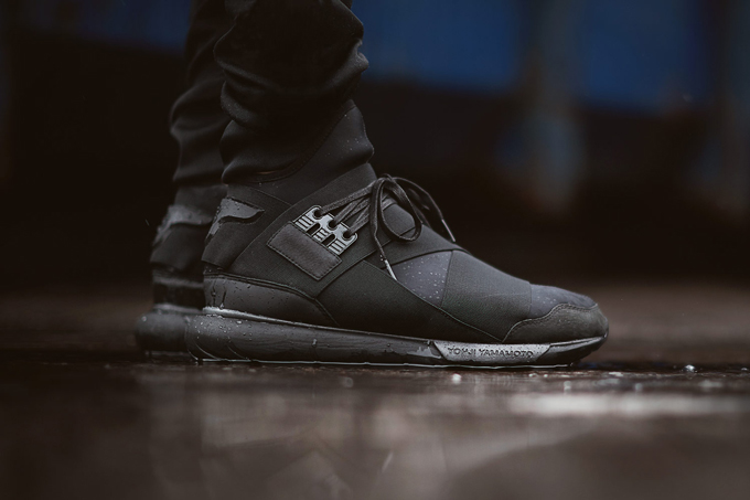 e55fbb4361d65 adidas Y-3 Qasa High Triple Black - The Drop Date