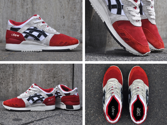 afew x asics gel lyte iii koi for sale