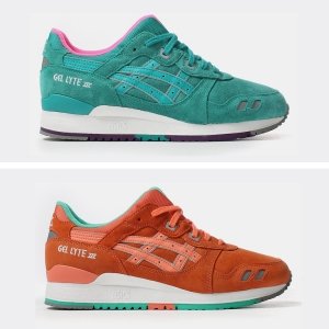 asics gel lyte iii all weather pack tropical teal salmon fresh social