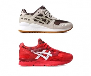asics valentine's day pack brown red gel lyte iii v f
