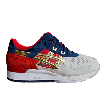asics x concepts gel lyte iii 3 25th anniversary blue red gold grey tea  party p2 2fb2d9b52f66