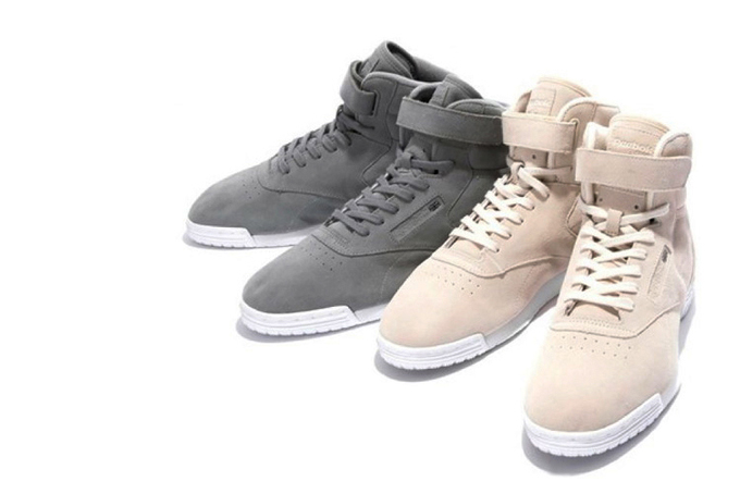 beauty youth x reebok ex o fit hi suede the drop date. Black Bedroom Furniture Sets. Home Design Ideas