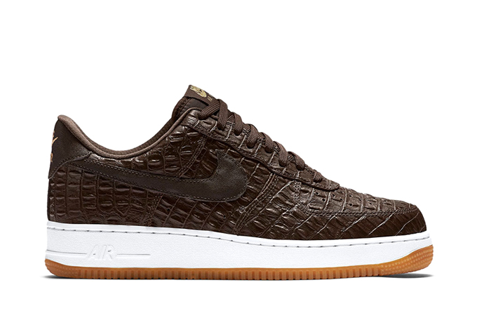 on sale b8701 5c73c nike air force 1 07 lv8 brown croc 1