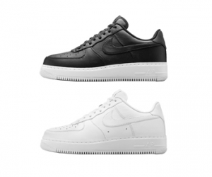 nike air force 1 cmft low black white premium leather f