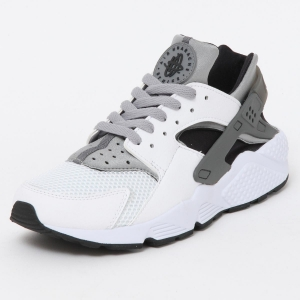 nike air huarache run le white wolf grey 318429-101