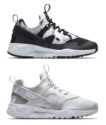 nike air huarache utility black white p