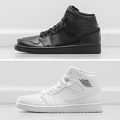 nike air jordan 1 mid black and white f
