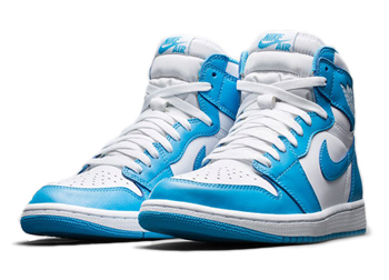 quality design 9b353 556b8 NIKE AIR JORDAN 1 RETRO HIGH OG  UNC . White   Dark Powder Blue - 555088-117