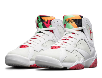 3abe3ad2223c9a NIKE AIR JORDAN 7  HARE . White   True Red   Light Silver   Tourmaline ...