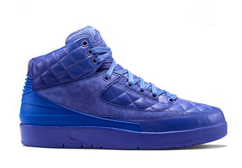 nike air jordan ii x just don blue leather quilted p