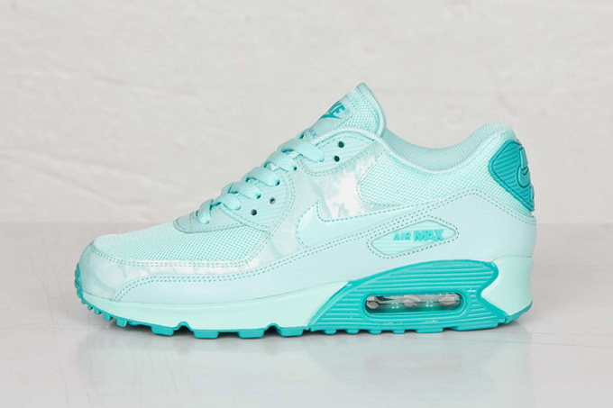 nike schuh air max 90 print artisan teal\/white ribbon