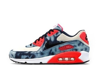 NIKE AIR MAX 90 INFRARED QS WASHED DENIM Midnight Navy