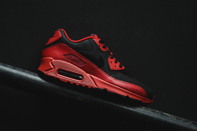 Nike Air Max 90 Winter Premium Gym Red Black | SneakerFiles