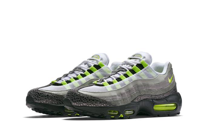 new concept 1b91b 99222 nike air max 95 neon safari front