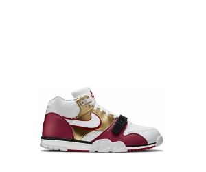 nike air trainer 1 i mid premium qs gold white club pebble red jerry rice f