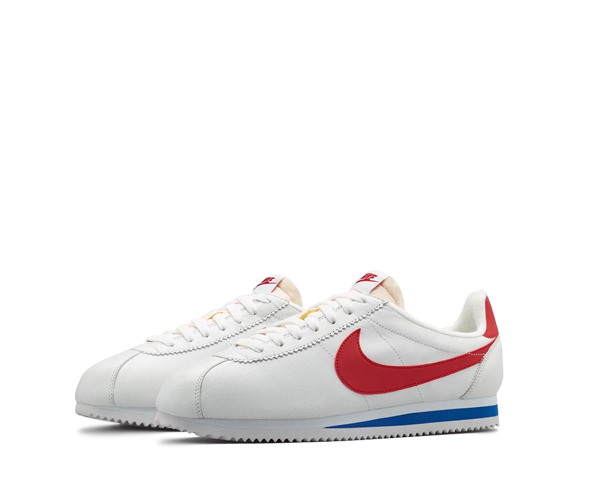 nike leather cortez red white blue