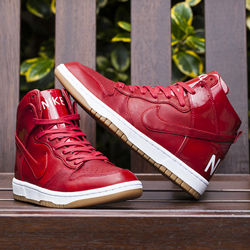 nike dunk high lux sp gym red f