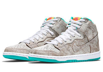nike dunk high premium sb flamingo 313171-117 white hyper jade tour yellow p