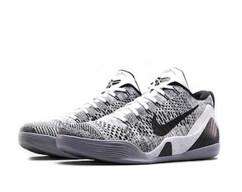 794147ac69c NIKE KOBE 9 ELITE LOW - BEETHOVEN. White   Black   Wolf Grey - 639045-101