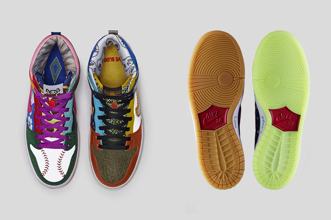 ... shoes vivid sulfur; nike sb dunk high what the doernbecher sole