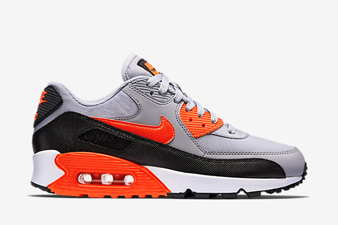 brand new 63a31 2c326 Nike WMNS Air Max 90 Wolf Grey and Infrared