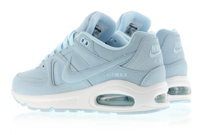 nike air max command premium trainers in ice blue
