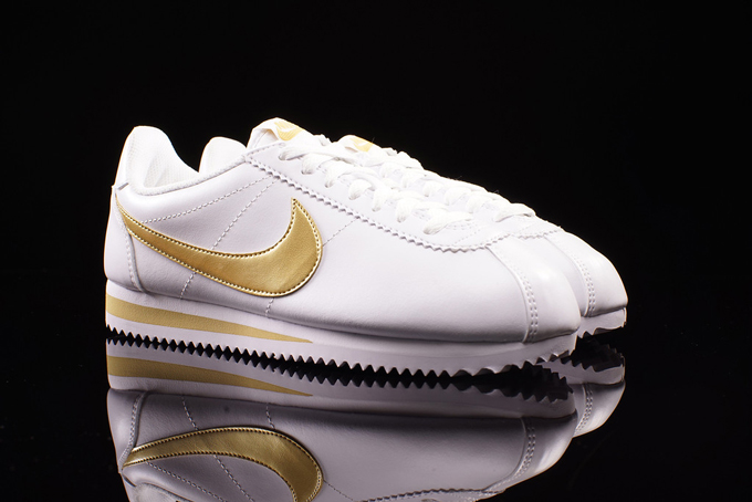 buy online e5d19 2657b Nike WMNS Classic Cortez White and Gold - The Drop Date