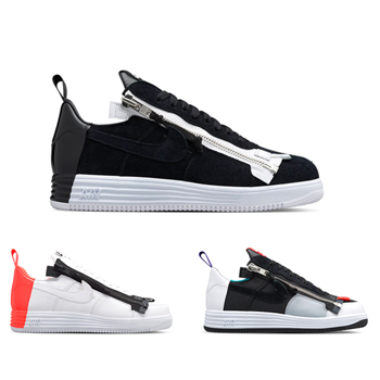 official photos ded5b 7a559 ... coupon code nikelab x acronym lunar force 1 sp zip black white bright  crimson turbo green