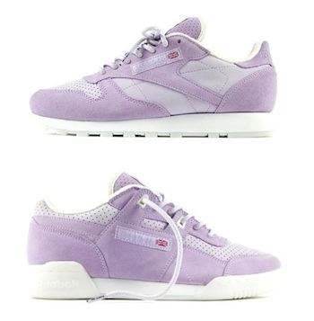 reebok x size? pastels purple oasis editions workout plus classic leather cl p