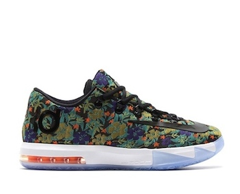 the drop date nike KD VI EXT floral p