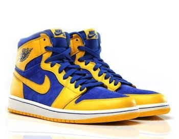 wholesale dealer 75eb2 05c40 NIKE AIR JORDAN 1 RETRO HIGH OG LANEY. Varsity Maize   Game Royal   White  ...