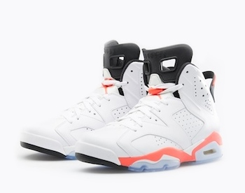 the drop date nike air jordan vi white infrared  copy