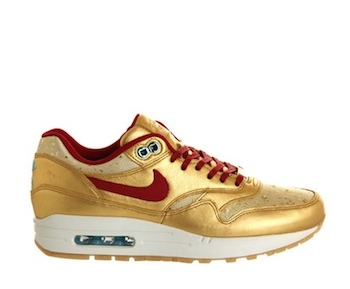 the drop date nike air max 1 premium bhm womens gold red p