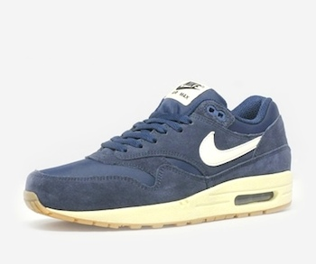the drop date nike air max 1 suede edition navy P