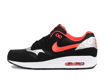 the drop date nike air max 1 womens black silver red copy