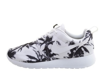 the drop date nike roshe run palm trees white black p