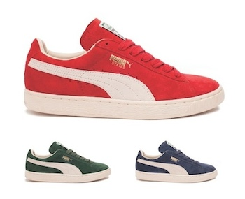 the drop date puma states suede red navy green size  p
