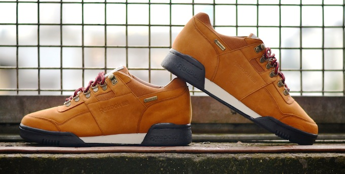 brown reebok classic shoes